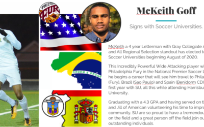 McKeith Goff signs with Soccer Universities
