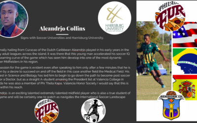 Aleandrjo Collins signs with Soccer Universities and Harrisburg University