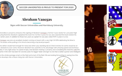 Abraham Vanegas signs with Soccer Universities and Harrisburg University