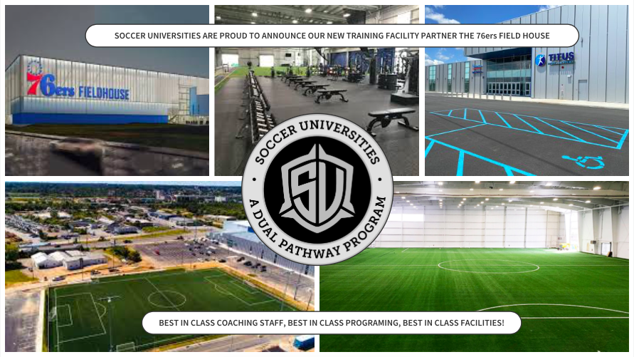 Soccer Universities are proud to announce our new training facility partner the 76ers Field House