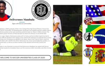 Deliverance Mambulu signs with Soccer Universities