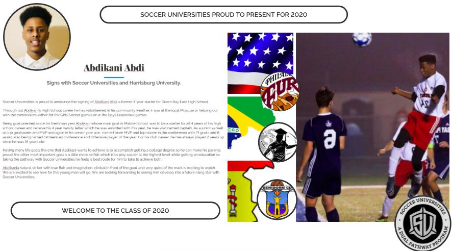 Abdikani Abdi signs with Soccer Universities and Harrisburg Universities