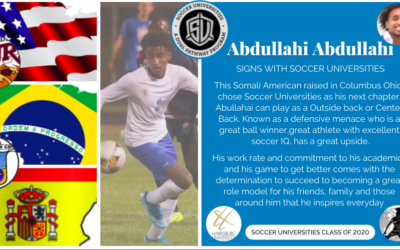 Abjullahi Abdullahi signs with Soccer Universities
