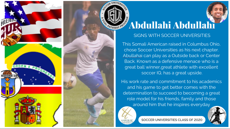 Abjullahi Abdullahi signs with Soccer Universities