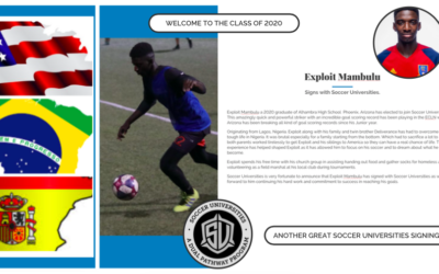 Exploit Mambulu signs with Soccer Universities