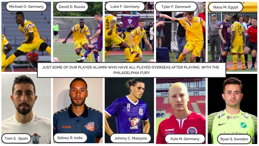Some Philadelphia Fury alumni that are now playing overseas