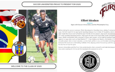 Elliot Idenhen signs with Soccer Universities and the Philadelphia Fury