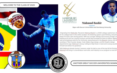 Mahmud Bashir signs with Soccer Universities and Harrisburg University
