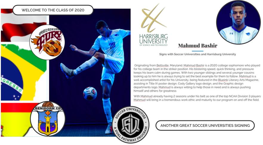 Mahmud Bashir signs with Soccer Universities and Harrisburg University